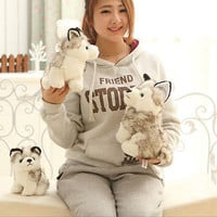 Lovely Creative Soft Plush Stuffed Toy Husky Dog Birthday Gift 18cm 3C