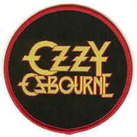 Ozzy Osbourne Sew On Patch Circle Letters Logo