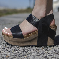 Heavenly Being Black Wedges