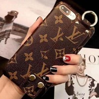 LV Louis Vuitton Stylish Cute Hot Sale Mobile Phone Shell iPhone Phone Cover Case For iphone X iphone 8 8plus iPhone6 6s 6plus 6s-plus iPhone 7 7plus(4-Style) I