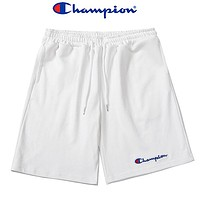 Champion fashion men and women embroidered letter shorts beach shorts
