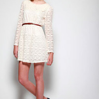Nicole Peter Pan Collar Lace Dress at boohoo.com