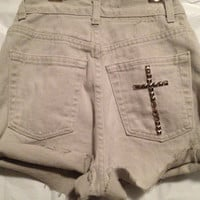High Waisted Kali Cross Shorts size 24 by KaliforniaClothing