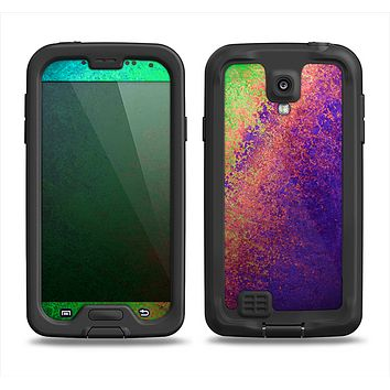 The Vivid Neon Colored Texture Samsung Galaxy S4 LifeProof Nuud Case Skin Set