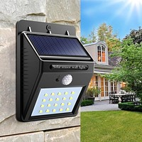 Solar Power Night Light Security 20 LED Solar Lamp PIR Motion Sensor Wall Lamp