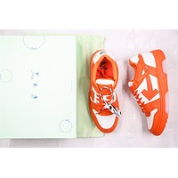 OW c/o Virgil Abloh Out Of Office Low-top Leather Orange Sneakers Size 40-45