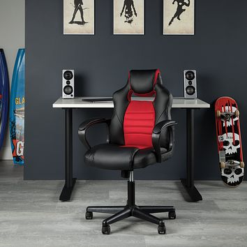 Ergonomic Game Room, Play Room, Bedroom, Gaming Swivel Chair w Headrest