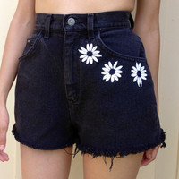 Reserved 90s Grunge Daisy High Waisted Jean Shorts
