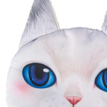 White Big Blue Eyes Persian Cat Coin Purse