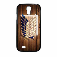 Attack On Titan Legion Logo Wood Samsung Galaxy S4 Case