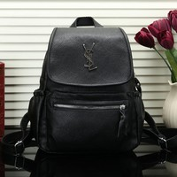 Perfect YSL Yves Saint Laurent Women Leather Bookbag Shoulder Bag Handbag Backpack