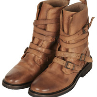 ARRESTED Buckle Biker Boots - Boots - Shoes - Topshop USA