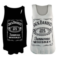 Jack daniels tank tops vest one size fits all by Unisexworld
