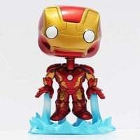 "1Pcs FUNKO POP Avengers Iron Man Mark 43 #66 PVC Action Figure Collection Toy Doll 4"" 10CM  Free Shipping"