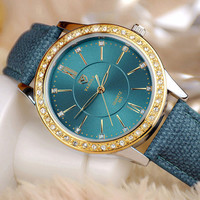 YAZOLE Gold Diamond Quartz Watch Women Ladies Famous Brand Luxury Golden Wrist Watch Female Clock Montre Femme Relogio Feminino