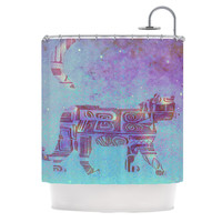 """Marianna Tankelevich """"Panther at Night"""" Purple Blue Shower Curtain"""