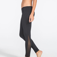 Full Tilt Sport Mesh Inset Womens Skinny Pants Black  In Sizes