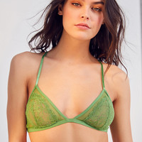 Out From Under Alexia Mesh Lace Triangle Bra | Urban Outfitters