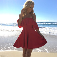 Red Hot Skater Dress