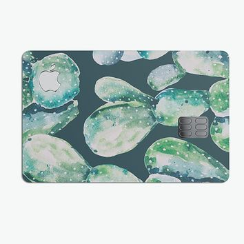 Watercolor Cactus Succulent Bloom V7 - Premium Protective Decal Skin-Kit for the Apple Credit Card