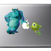 Monsters Inc Mike n Sulley MacBook Decal Apple Mac Book iPad
