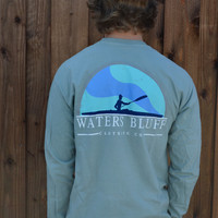 Waters Bluff Paddler Long Sleeve Tee- Bay