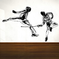 Vinyl Wall Decal Sticker Fencing #OS_AA698