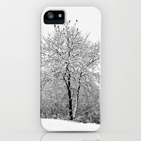 Winter Jackdaws iPhone Case by Steve Purnell | Society6