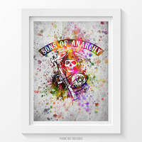 Sons Of Anarchy Poster, Sons of Anarchy Print, Sons of Anarchy Art, Sons of Anarchy Decor, Home Decor, Gift Idea