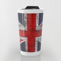 Union Jack Grunge Flag Travel Mug by Alice Gosling | Society6