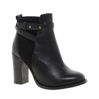 Whistles Canter Black Block Heel Leather Ankle Boots at asos.com