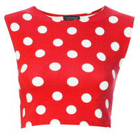 Spot Stretch Crop Tee - Jersey Tops - Clothing - Topshop