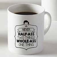 Large Quote Parks and Recreation Ceramic Coffee Mug Two Sides