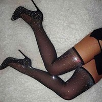 New ladies sexy nightclub high heels high heel boots with pointed toe drill