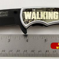 """The Walking Dead Zombie Killer Limited Edition Spring Assisted Knife 4.5"""" closed"""