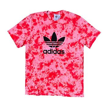 "Adidas x Jeffersons Custom Tonal Tie Dyed T-Shirt ""FIRE RED"""