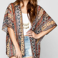 Lottie & Holly Boho Print Womens Kimono Multi  In Sizes