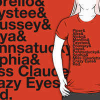 OITNB Character Names All (black text) by andalsothis