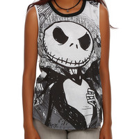 The Nightmare Before Christmas Jack & Sally Girls Muscle Top