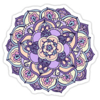 Aqua, Pink and Purple Doodled Pattern