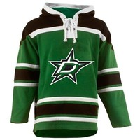 Old Time Hockey Dallas Stars St. Patrick's Day McNary Lace Hoodie - Kelly Green