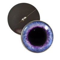 30mm Button Wide Purple Fantasy Glass Eyes Pair