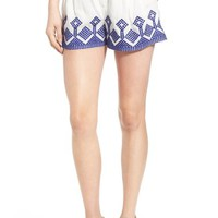 devlin 'Piper' Embroidered Shorts | Nordstrom