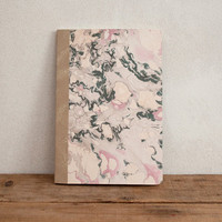 Marbled hard cover - notebook - lined - paper - rose -patter MARB5005B