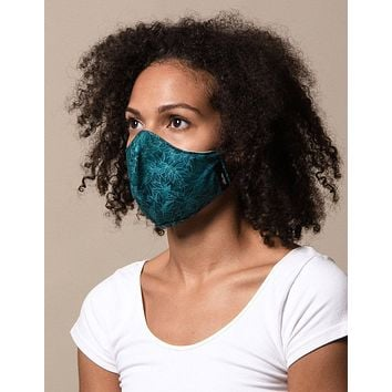 100% Cotton Adjustable Face Mask - Turquoise