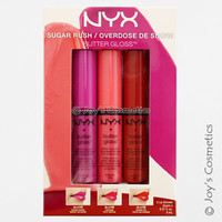 "1 NYX Butter Gloss 3 piece Set - Sugar Rush ""BLGSET 04""   *Joy's cosmetics*"