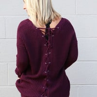 Back To Back Lace-Up Sweater