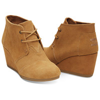 TOMS Desert Wedge Corduroy Shoes