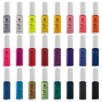 Nail Art Set (24 Famous Colors Nail Art Polish, Nail Art Decoration)