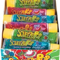 Hubba Bubba Squeeze Pop, Assorted Sour Lollipops, 4-Ounce Tubes (Pack of 18)